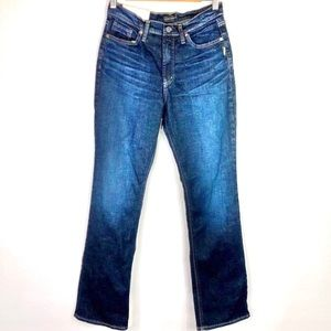 Silver Jeans High Rise Calley Slim Boot Cut Jeans